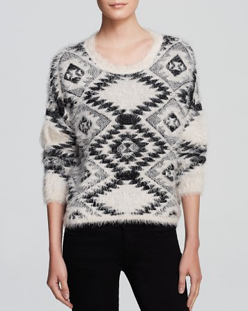$AQUA Sweater - Aztec Cropped - 100% Exclusive - Bloomingdale's