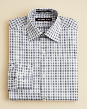 Michael Kors - Boys' Open Check Button Down Shirt & Wool Trousers - Big Kid