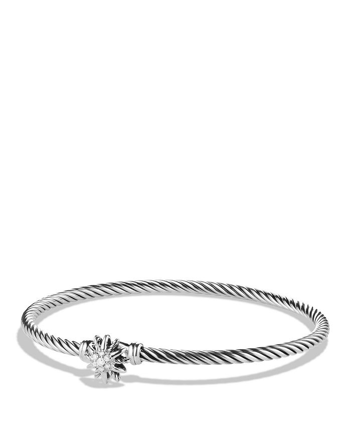 David Yurman - Starburst Single-Station Cable Bracelet with Diamonds