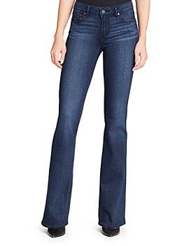 PAIGE - Transcend Skyline Bootcut Jeans in Valor