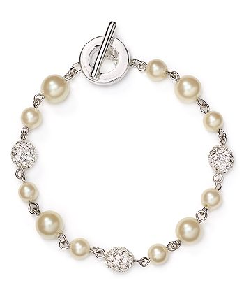 Carolee - Faux-Pearl Fireball Illusion Bracelet