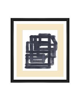 PTM Images - Black & White Lines Wall Art