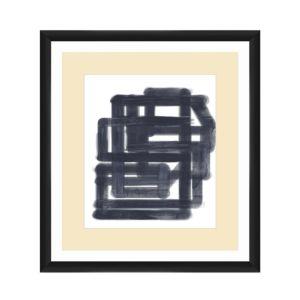 Ptm Images Black & White Lines Wall Art