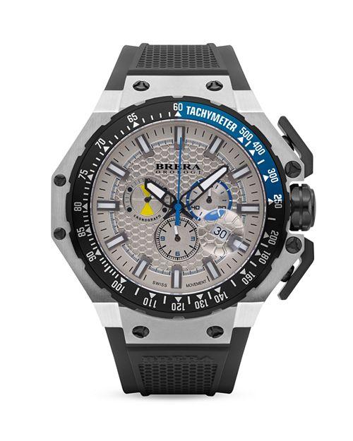 BRERA OROLOGI - BREAR OROLOGI Gran Turismo Watches with Rubber Strap, 54mm
