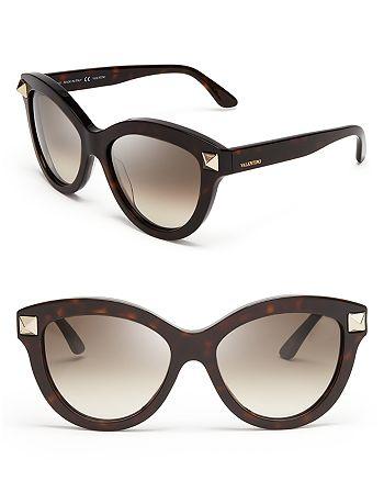 Valentino - Women's Rockstud Oversized Cat Eye Sunglasses, 56mm