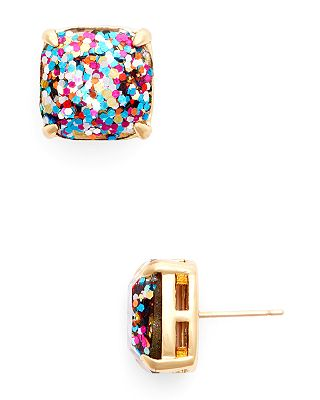 Kate Spade New York Small Square Glitter Stud Earrings Bloomingdale S