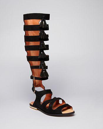 Rebecca Minkoff - Flat Gladiator Sandals - Summer Tall Fringe