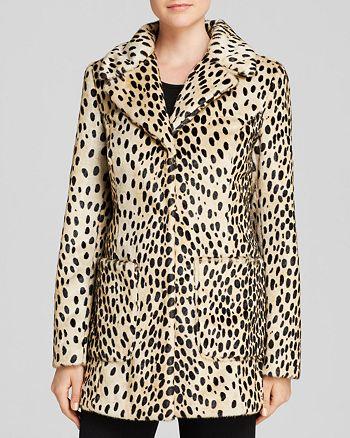 GUESS - Faux Fur Leopard Jacket