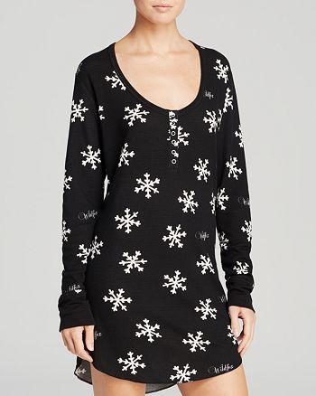 WILDFOX - Snowed In Snowflake Sleep Shirt