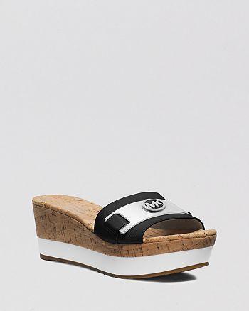 91ef3fa512c MICHAEL Michael Kors - Platform Slide Sandals - Warren
