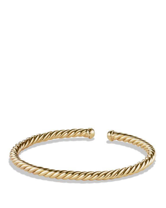 David Yurman Precious Cable Cablespira Bracelet in Gold    Bloomingdale's