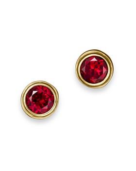 Bloomingdale's - Gemstone Bezel Set Stud Earrings in 14K Yellow Gold - 100% Exclusive