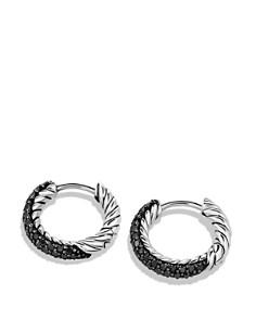 David Yurman - Petite Pavé Earrings with Black Diamonds
