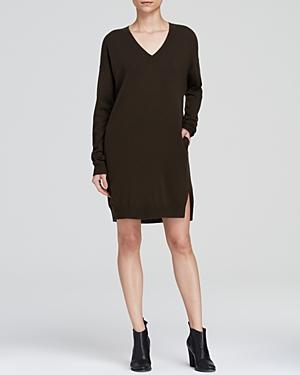 Vince Tunic Sweater Dress - V Neck