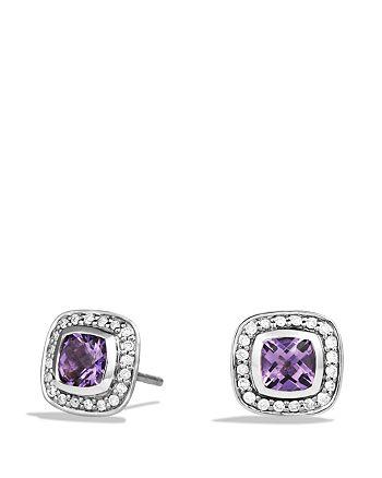 David Yurman - Petite Albion Earrings with Amethyst and Diamonds