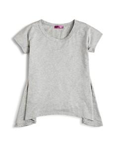 AQUA Girls' Solid Knit Sharkbite Tee, Big Kid - 100% Exclusive - Bloomingdale's_0