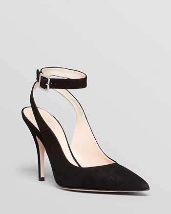 kate spade new york - Pointed Toe Ankle Strap Pumps - Luminous High-Heel