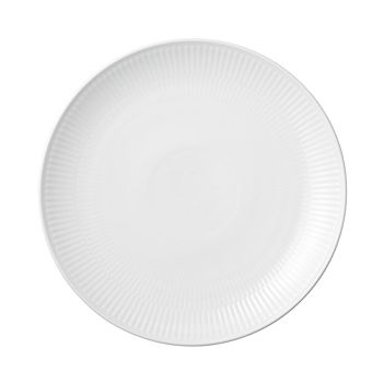 Royal Copenhagen - White Fluted Plain Coupe Lunch Plate