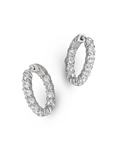 Diamond Inside Out Hoop Earrings in 14K White Gold, 3.60 ct. t.w. - 100% Exclusive - Bloomingdale's_0