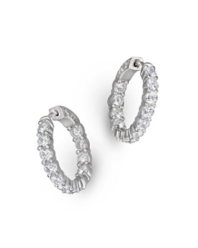 Bloomingdale's - Diamond Inside Out Hoop Earrings in 14K White Gold, 3.60 ct. t.w. - 100% Exclusive