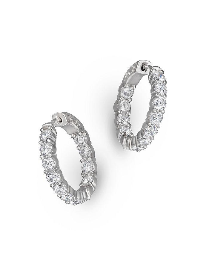 Bloomingdale's - Diamond Inside Out Hoop Earrings in 14K White Gold, 3.60 ct. t.w.- 100% Exclusive