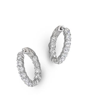 Diamond Inside Out Hoop Earrings in 14K White Gold, 3.60 ct. t.w. - 100% Exclusive