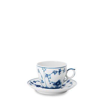 Royal Copenhagen - Blue Fluted Plain Espresso Cup & Saucer