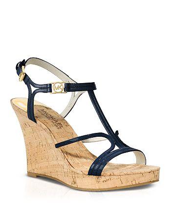 994127e9dc1 MICHAEL Michael Kors Open Toe Platform Wedge Sandals - Cicely ...