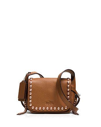 COACH - Rivets Dakotah 14 Crossbody in Pebble Leather