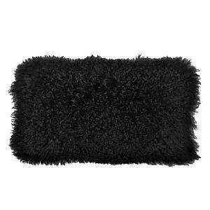 Donna Karan Flokati Fur Decorative Pillow 11 x 22