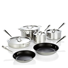 All Clad Stainless Steel Nonstick 10-Piece Cookware Set - Bloomingdale's Registry_0