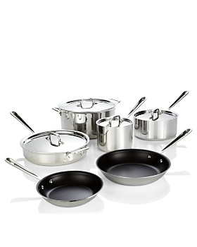 All-Clad - Stainless Steel Nonstick 10-Piece Cookware Set