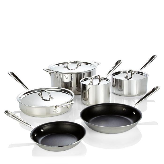 All Clad All Clad Stainless Steel Nonstick 10 Piece