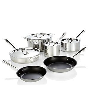 All Clad Stainless Steel Nonstick 10-Piece Cookware Set