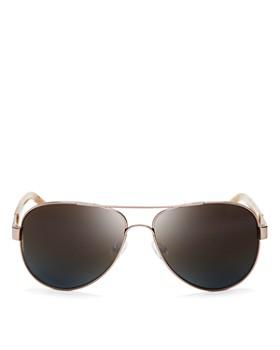 Tory Burch - Women's Polarized Aviator Sunglasses, 57mm
