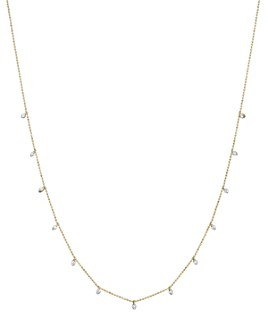 Bloomingdale's - Diamond Station Necklace in 14K Yellow Gold, .50 ct. t.w.- 100% Exclusive