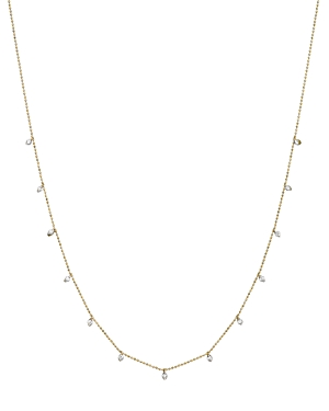 Diamond Station Necklace in 14K Yellow Gold, .50 ct. t.w. - 100% Exclusive
