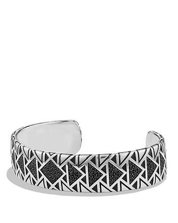 David Yurman - Southwest Wide Cuff Bracelet with Black Diamonds