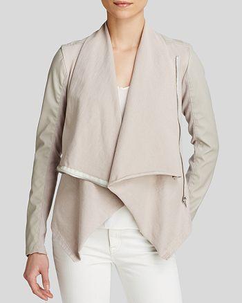 BLANKNYC - Faux Leather Asymmetric Zip Jacket