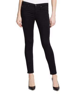 7 For All Mankind Womens Skinny Sateen Jean Ankle Pant