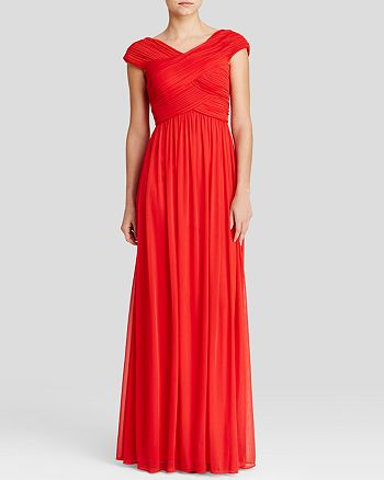 JS Collections - Gown - Cap Sleeve Pleated