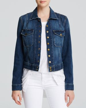 Current/Elliott Jacket - The Snap Jacket in Loved Wash