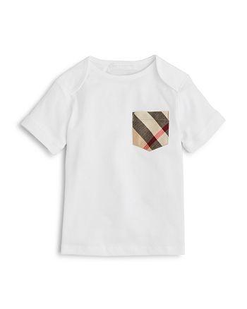 Burberry - Boys' Callum Check Pocket Tee - Baby