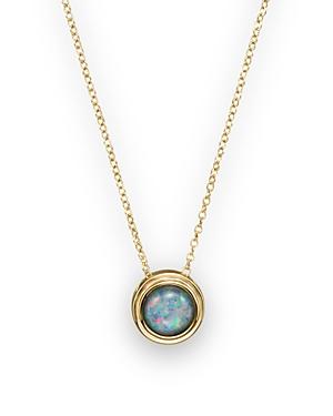 Black Opal Bezel Set Pendant Necklace in 14K Yellow Gold, 17 - 100% Exclusive