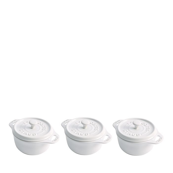 "Staub - Round Mini 4"" Cocotte, Set of 3"