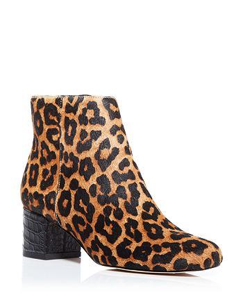 1f0005e82 Sam Edelman Edith Leopard Print Calf Hair Mid Heel Booties ...