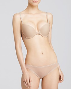 On Gossamer - Bump It Up Push-Up Bra & Mesh Hip Bikini