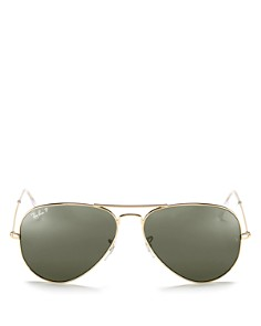 Ray-Ban - Unisex Polarized Classic Aviator Sunglasses, 62mm