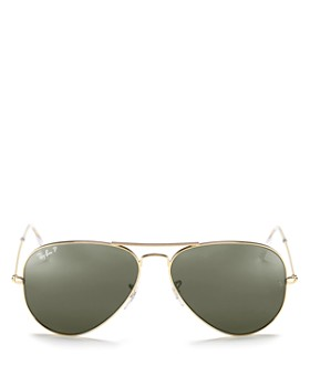 Ray-Ban - Unisex Classic Polarized Brow Bar Aviator Sunglasses, 62mm