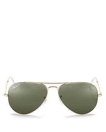 Ray-Ban - Unisex Polarized Classic Aviator Sunglasses, 58mm